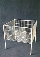 Акционный стол корзина напольная 600х600х800(h)