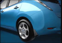 Брызговики Nissan Leaf 2011-2015 комплект 4шт, фото 1
