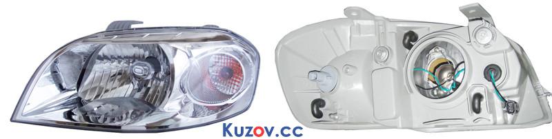 Фара Chevrolet Aveo T250 (06-12), ZAZ Vida (12-) правая, механическая (Depo) 96650528