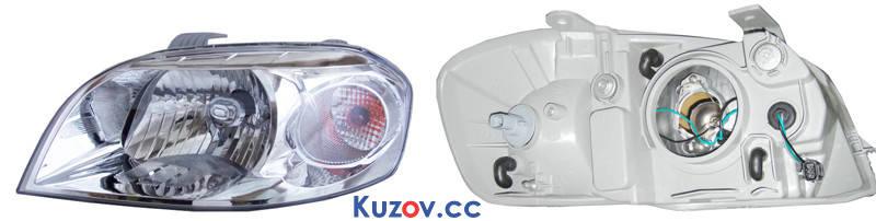 Фара Chevrolet Aveo T250 (06-12), ZAZ Vida (12-) правая, механическая (Depo)  96650528, фото 2