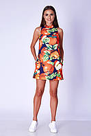Платье женское GIOIA укороченное синее