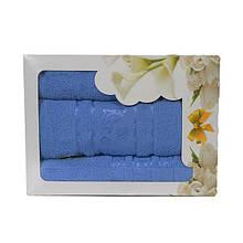 Комплект из 3-х махровых полотенец в подарочной упаковке ИЗИ