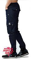 "Штаны ""Ястребь"" cargo pants Classic (на резинке) Тёмно\синий"