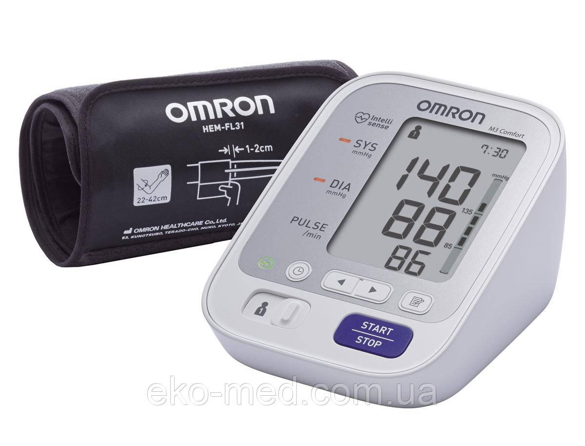 Автоматический тонометр OMRON M3 Comfort с уникальной манжетой Intelli Wrap (Япония)