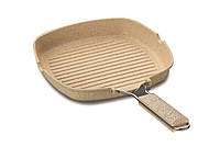 Сковорода - гриль с гранитным покрытием 28x28 см FineCast Granite Korkmaz A14981