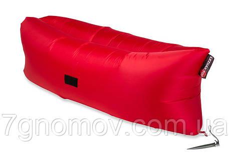 Ламзак, надувной диван-матрас Light красный, фото 2