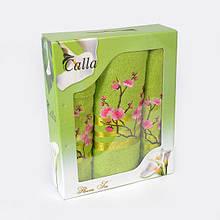 Комплект турецких махровых полотенец в подарочной коробке ИЗИ