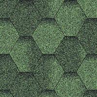Битумная черепица Акваизол Мозаика Зеленая ЭКО