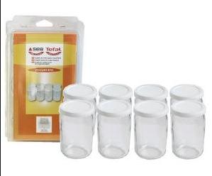 Набор круглых баночек для йогуртницы Tefal (8 шт) 989641