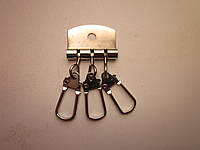 Ключница 3 карабина никель
