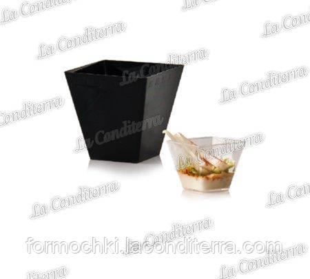 Пластиковый черный стакан «Cubini» (320 мл)