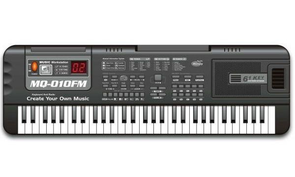 Детский синтезатор с микрофоном MQ-010USB