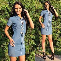Платье Тм Enneli размер S M L ткань тоненькая джинса.(