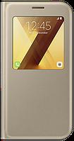 Чехол Samsung S View Standing Cover EF-CA720PFEGRU Gold для Galaxy A7 (2017)
