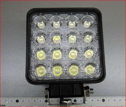 Светодиодная LED фара дальнего света квадратная 48W 29-48 Yellow - White