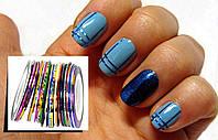 Самоклеющаяся лента (скотч лента) для дизайна ногтей, 1 шт разные цвета, фото 1