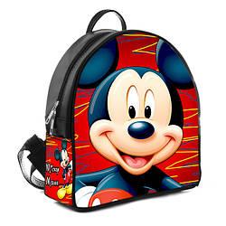 Городской женский черный рюкзак с принтом Мики Маус
