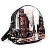 Женский модный черный рюкзак с принтом Город, фото 2