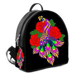 Женский рюкзак из кожзама с принтом Фламинго