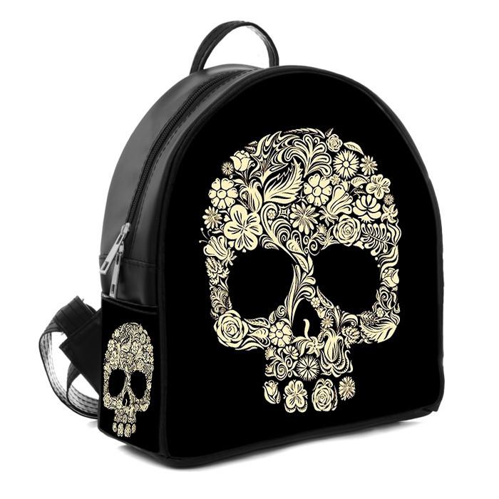 Городской стильный рюкзак с принтом Череп