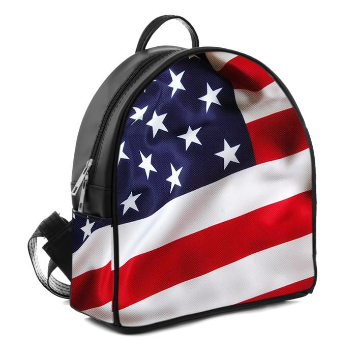 Городской женский рюкзак с принтом Флаг Америки