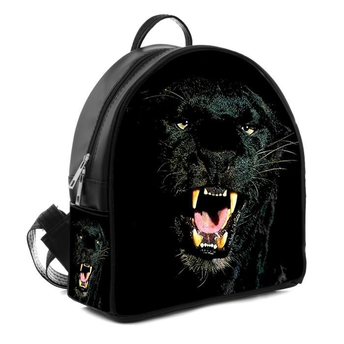 Городской женский рюкзак с принтом Черная пантера