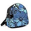 Городской женский рюкзак с принтом Голубой цветок, фото 2