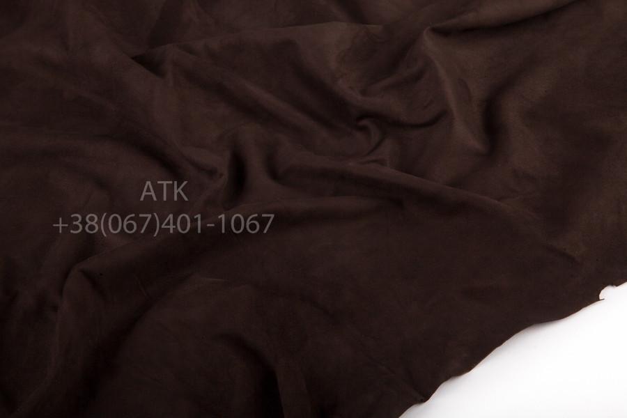 Замша одежная темно-коричневая