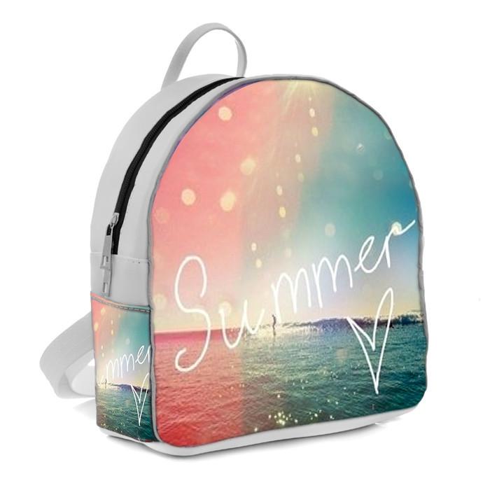 Белый женский городской рюкзак с принтом Summer