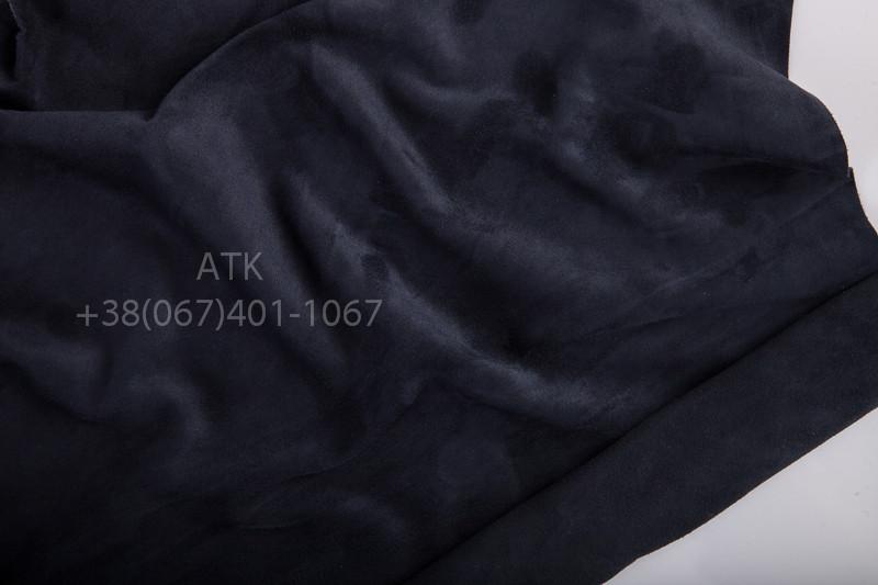 Замша одежная темно-синяя Марин