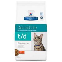 Hill`s (Хиллс) PD Feline T/D 5кг - лечебный корм для контроля образования зубного налета и камня у кошек