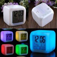 Светящийся будильник-хамелеон Glowing Led Color Digital Alarm