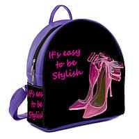 Фиолетовый городской рюкзак с рисунком Туфельки
