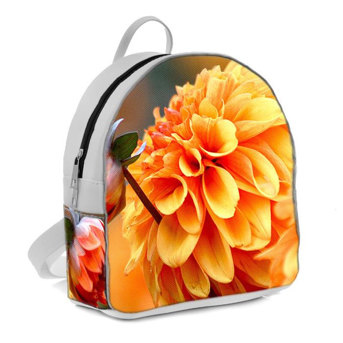 Белые городские модные рюкзаки с принтом Цветок
