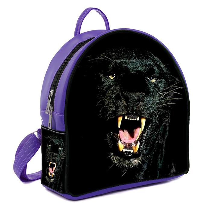 Фиолетовый городской рюкзак с принтом Гепард
