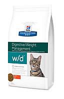 Hill`s (Хиллс) PD Feline W/D - лечебный корм для кошек с избыточным весом, а также для контроля веса, 1.5кг