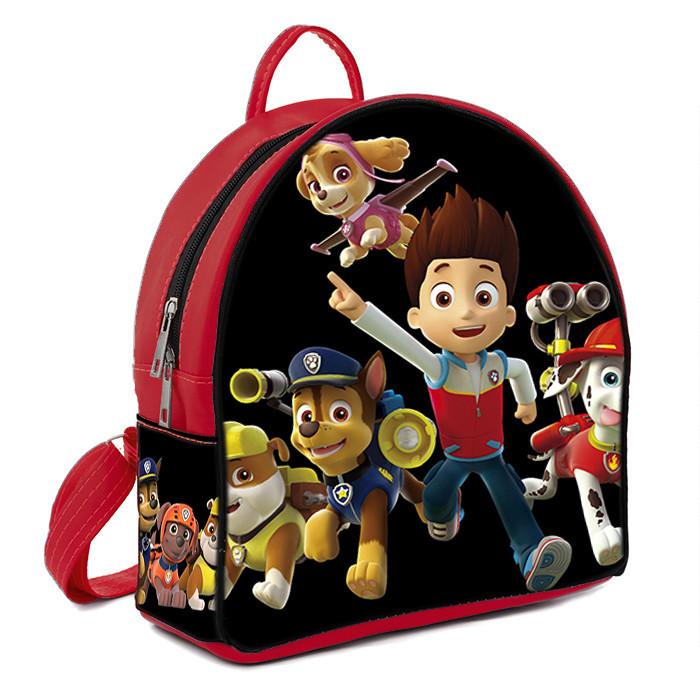 Красный детский рюкзак с принтом Щенячий патруль