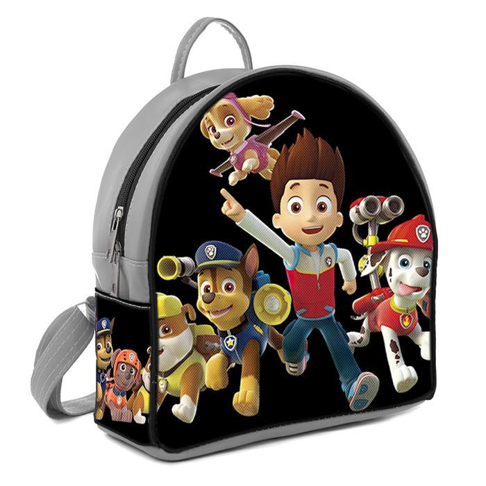 Серый детский рюкзак с принтом Щенячий патруль