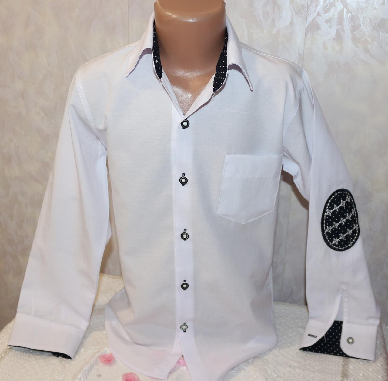Рубашка нарядная на мальчика белая с карманом 10-11,12-13,14-15,15-16 лет