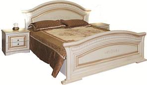 Ліжко 1.6 Ніколь (біле дерево \ патина)