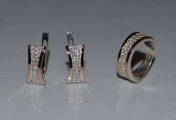 Новые серебряные украшения с золотыми вставками