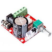 Аудио усилитель PAM8610 2х10Вт 8-12В стерео, плата