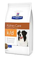 Hill`s (Хиллс) PD Canine K/D-лечебный корм для собак при забол. почек,ранних стадий серд. недостаточности,12кг