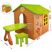 Mochtoys домик + столик № 04