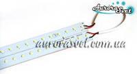 Светодиодная линейка smd 3014 30 см 64 светодиодов (в комплекте с креплениями 2 шт.) (прозрачная и матовая)