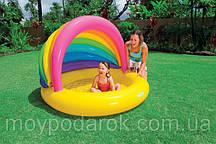 Дитячий надувний басейн Веселка Intex 57420