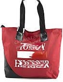Вместительная прочная тканевая женская сумка Аркадия БН art.1 красная (100931)
