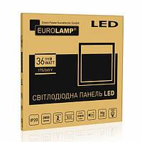 LED Светильник 600*600мм накл. EUROLAMP 36W 4000K призматичный рассеиватель