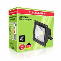 LED Прожектор COB classic EUROELECTRIC 30W 6500K черный