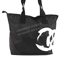 Вместительная прочная тканевая женская сумка Аркадия БН art.1 черная (100932)